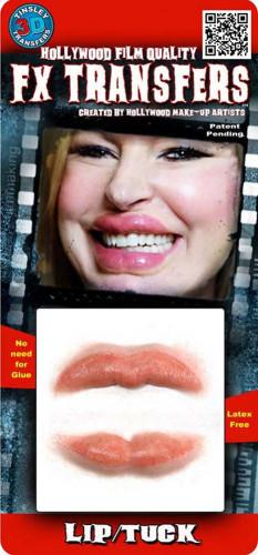 Dicke Lippen als Abziehbild mit Wasser Premiumqualität-1