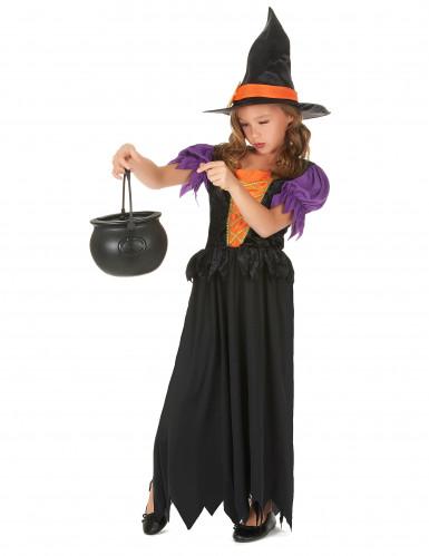 Hexenkostüm orange für Mädchen-1