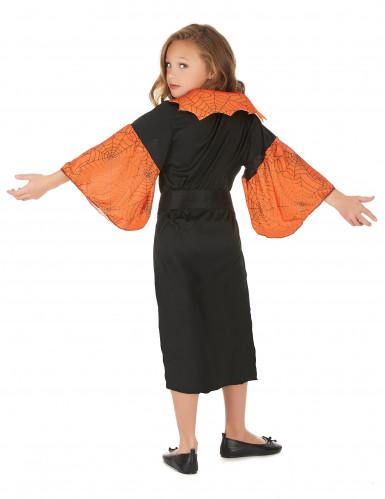 Spinnenkönigin-Kostüm orange für Mädchen-2