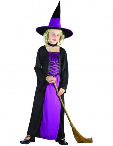 Hexenkostüm lila für Mädchen