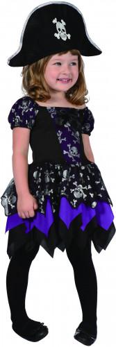 Piraten Kostüm für Mädchen in lila