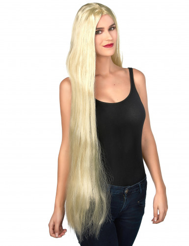 Perücke mit langen blonden Haaren für Frauen