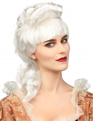 Edle weiße Perücke für Frauen