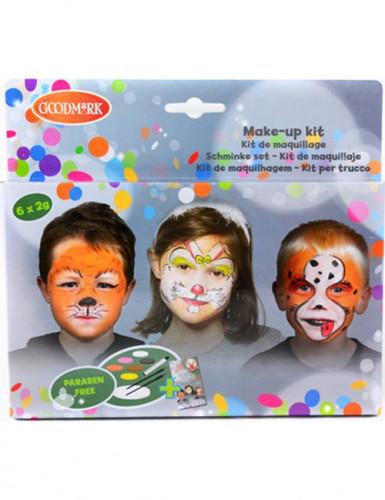 Kinderschminke 6er Set Tierfarben