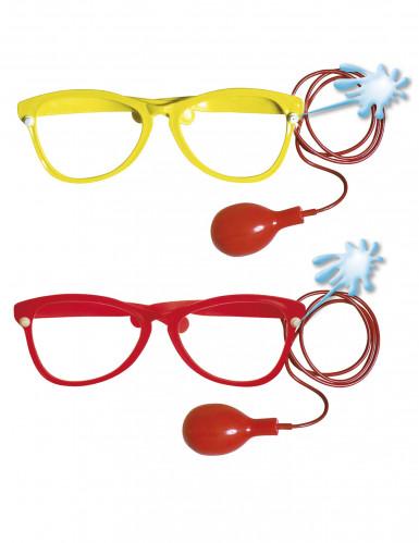 Riesige Clownsbrille mit Wasserspritze für Erwachsene