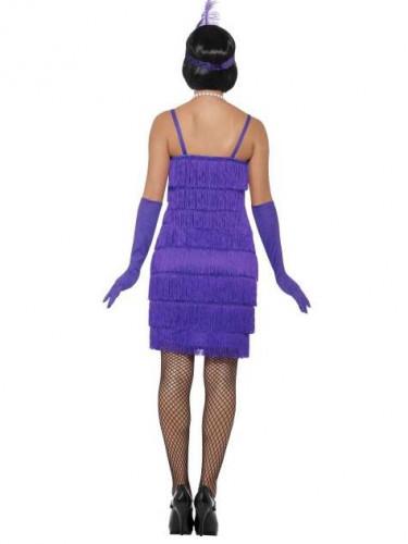 Charleston Kleid lila 20er Jahre für Damen-2
