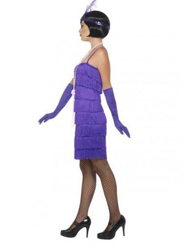 Charleston Kleid lila 20er Jahre für Damen-1
