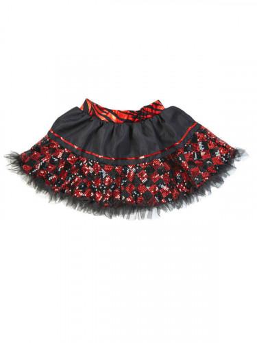 Mini Rock schwarz rot für Damen-1