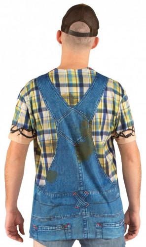 Jeans-Latzhose T-Shirt für Erwachsene-1