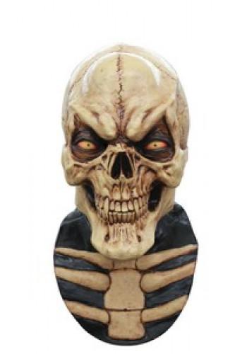 Vollgesichtsmaske dämonisches Skelett für Erwachsene