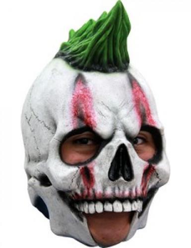 Punker Skelett Maske 3/4 für Erwachsene