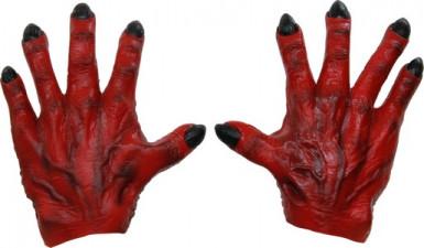 Rote Monster Handschuhe für Männer