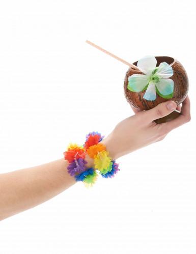 2 Hawaii Armbänder - bunt-1