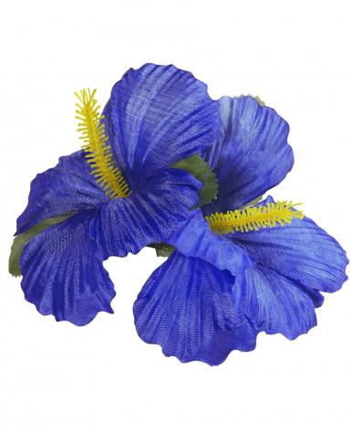 Dunkelblaue Blumen Haarspange-1