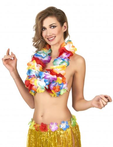 Hochwertige bunte Blumenkette - Hawaii-1