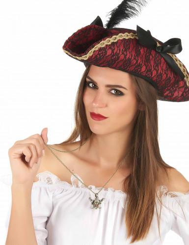 Goldene Piraten Kette für Erwachsene-1