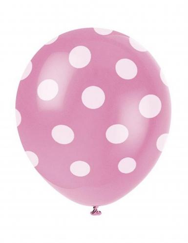 6 rosa Luftballons