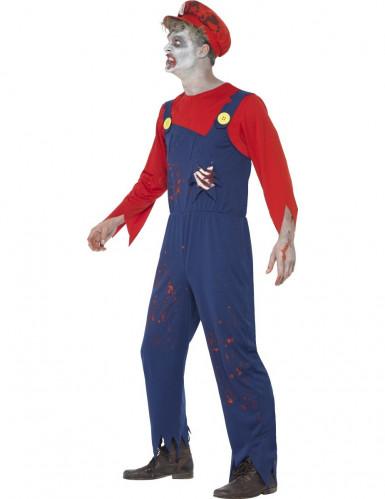 Zombie Klempner Kostüm für Herren Halloween-1