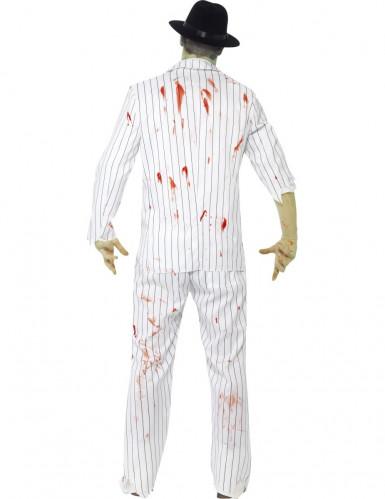 Weißes Zombie-Gangster Halloween Kostüm für Männer-2