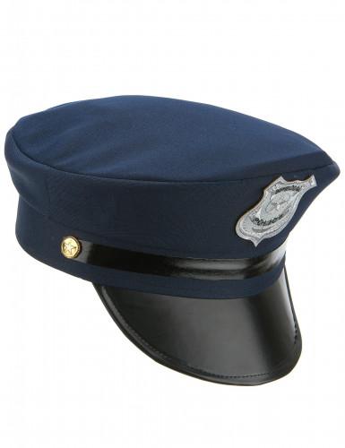 Polizeihut für Erwachsene blau-schwarz