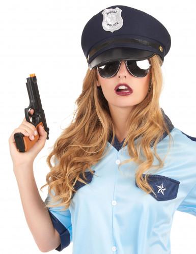 Polizeihut für Erwachsene blau-schwarz-1
