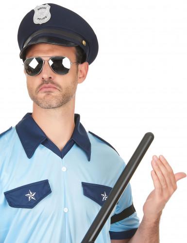 Polizeihut für Erwachsene blau-schwarz-2