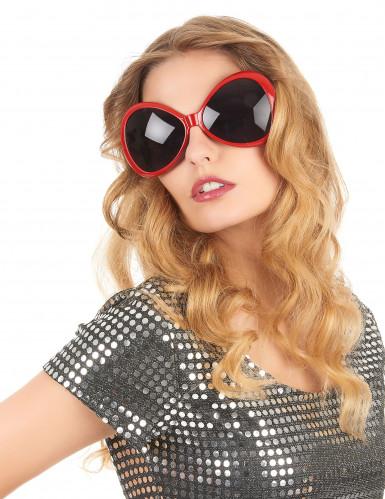 70er Disco Brille in rot für Erwachsene-1