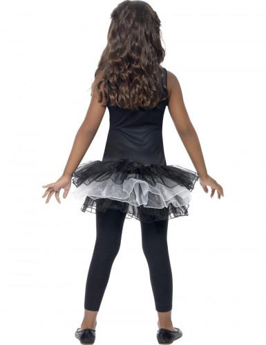 Schwarze Skelett-Verkleidung mit Tutu für Mädchen Halloween-2