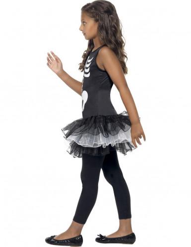 Schwarze Skelett-Verkleidung mit Tutu für Mädchen Halloween-1