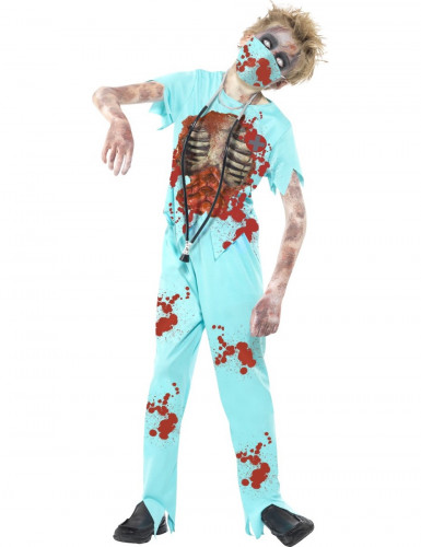 Zombie-Doktor Halloween Kostüm für Kinder