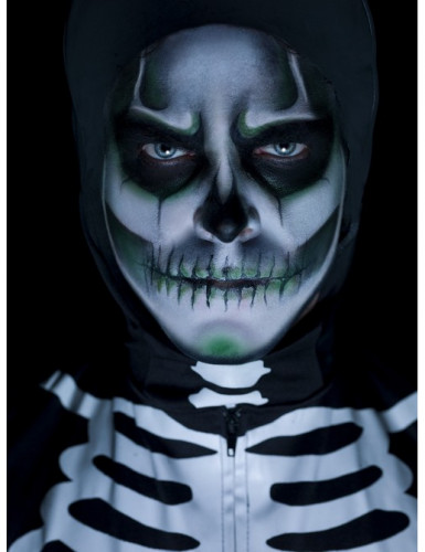 Halloween Skelett Makeup-Kit phosphoreszierend für Erwachsene-1