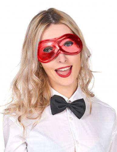 Karneval Augenmaske rot für Erwachsene