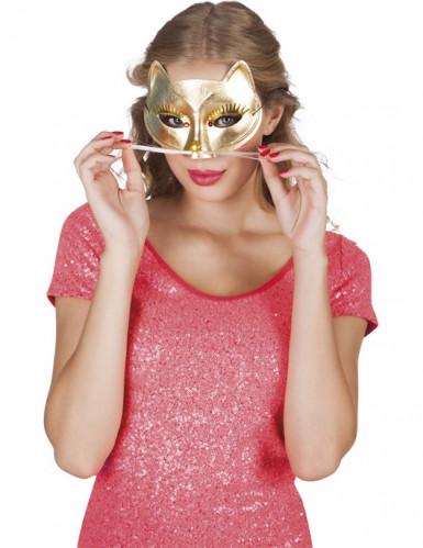Goldige Katzen Halbmaske für Erwachsene