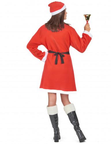 Damenkostüm Weihnachtsfrau mit Pompons-2