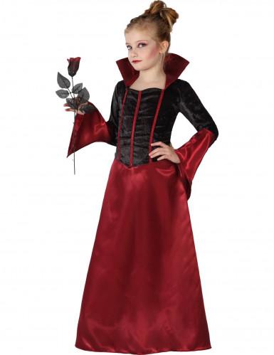 Halloween Rotes und schwarzes Vampir Kostüm für Mädchen