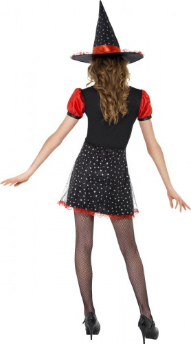 halloween hexen verkleidung schwarz rot f r jugendliche. Black Bedroom Furniture Sets. Home Design Ideas