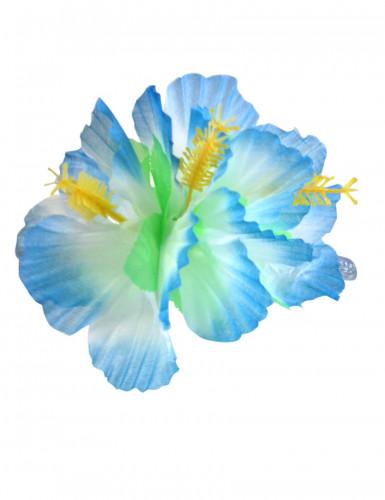 Haarklammer Hawaii mit blauen Blumen