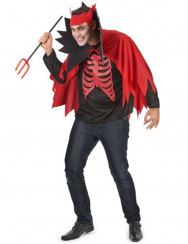 Teufels-Kostüm rot für Herren Halloween-1