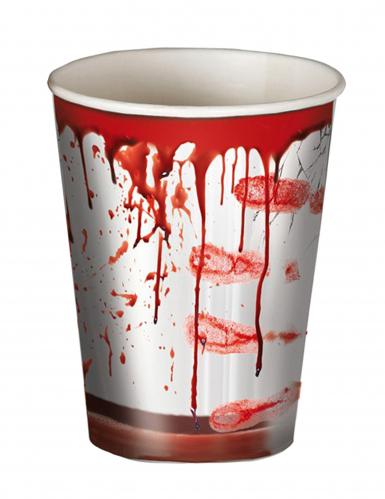 8 blutige Halloween Becher
