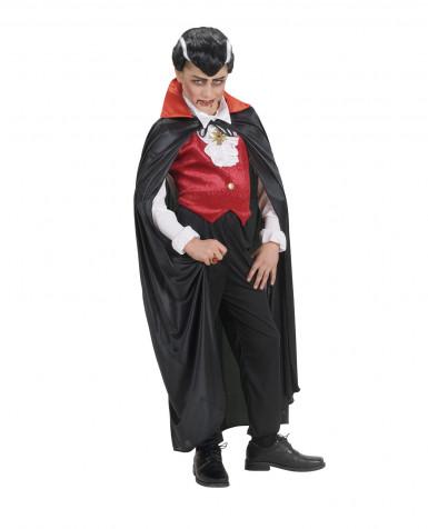 Vampir Umhang rot für Kinder