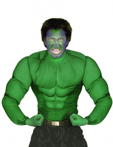 Oberteil mit Muskeln grün für Erwachsene
