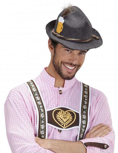 Grauer Bayern-Hut für Erwachsene