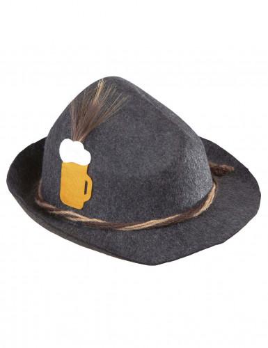 Grauer Bayern-Hut für Erwachsene-1
