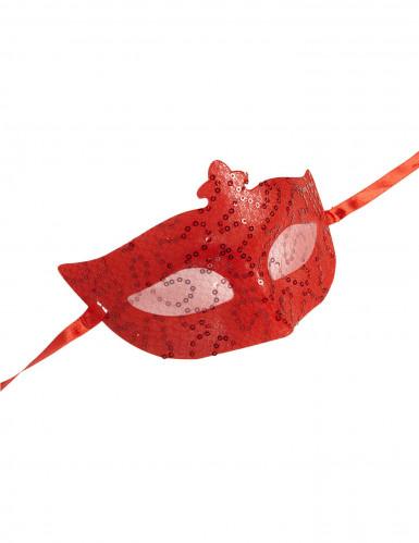 Venezianische Halbmaske rot für Erwachsene