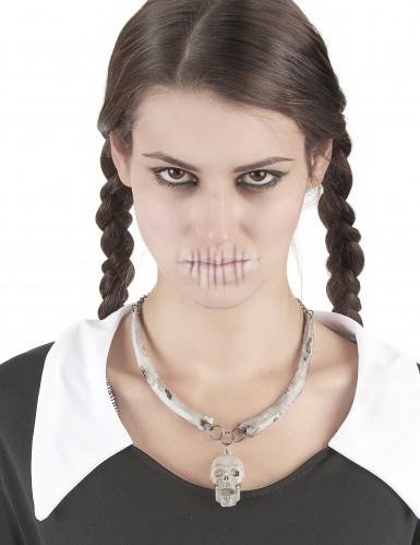 Skelett-Kette für Erwachsene Halloween-1