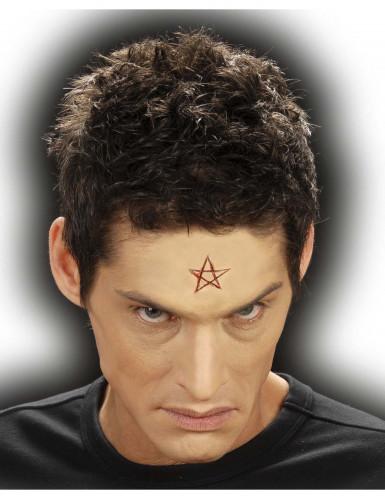Falsche Pentagramm-Wunde für Erwachsene Halloween