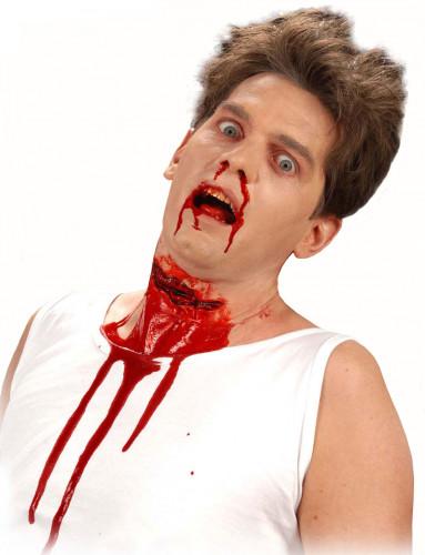 Unechte blutige Schnittwunde für Erwachsene Halloween