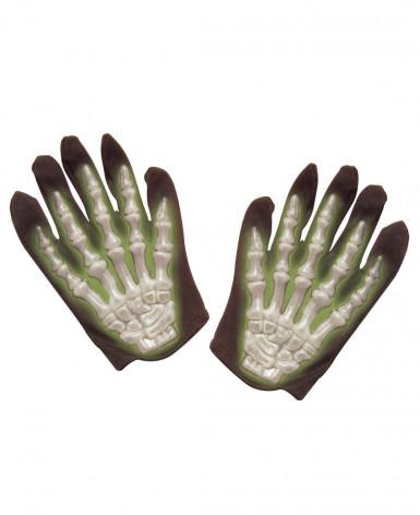 Halloween Handschuhe phosphoreszierend für Kinder
