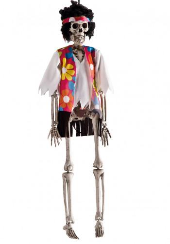 Hängende Dekoration Hippie Skelett für Halloween