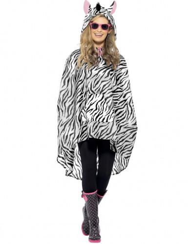 Zebra-Poncho für Erwachsene